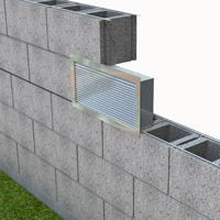 "Extruded Aluminum Brick Vents - Style ""F"""
