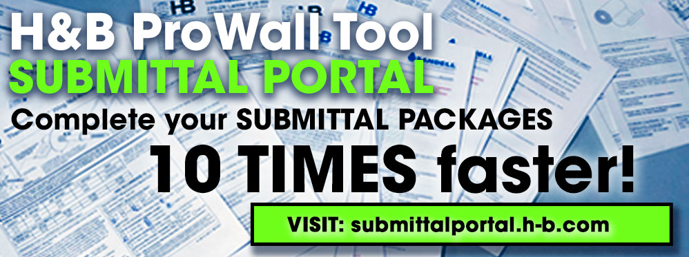 ProWall Tools Submittal Portal