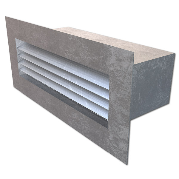 "Extruded Aluminum Brick Vents - Style ""F"" - Click Image to Close"
