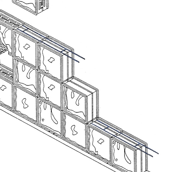 220 Glass Block Reinforcement - Click Image to Close
